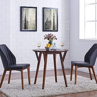 Carson Carrington Kaskinen Round Dark Sienna Brown Small Space Dining Table