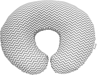 Premium Quality Nursing Pillow Cover by Mila Millie - Gray Chevron Unisex Design Slipcover - 100% Cotton Hypoallergenic - Great for Breastfeeding Mothers - Perfect Baby Shower Gift (Grey)