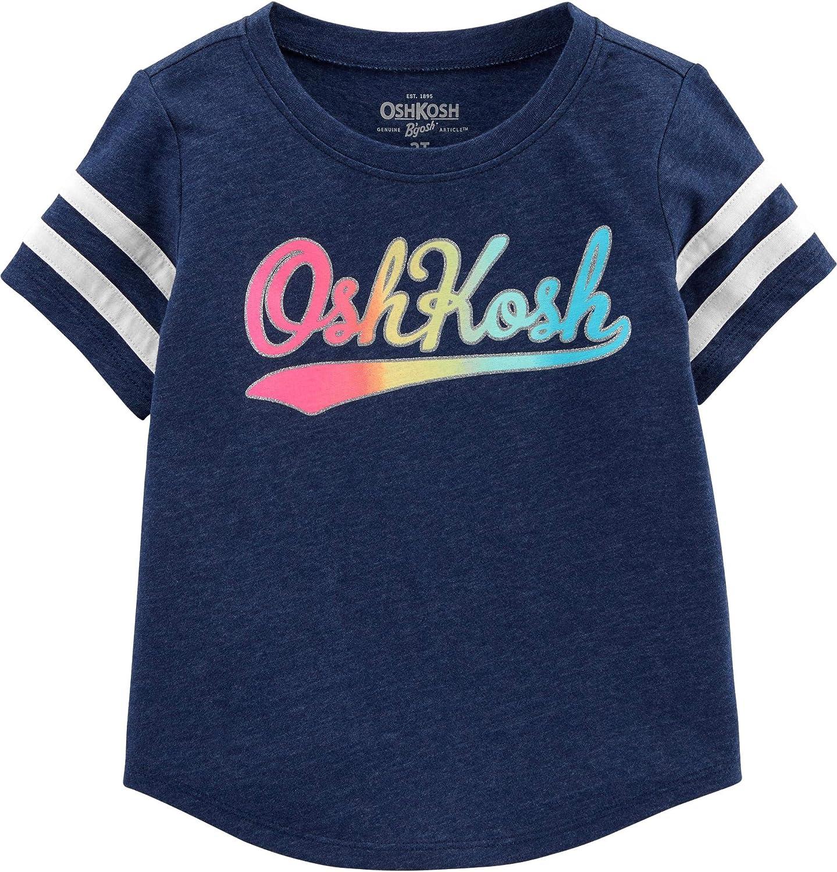 OshKosh B'Gosh Baby Girls' Toddler Logo T-Shirt: Clothing