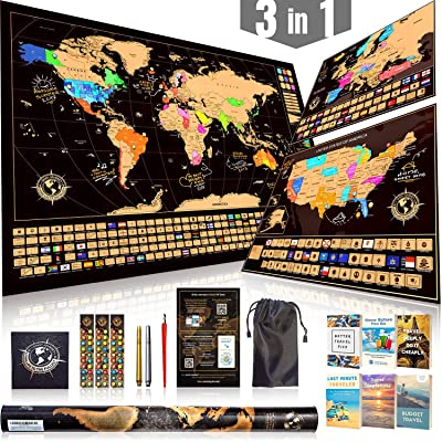 Scratch Off Map Ultimate Pack
