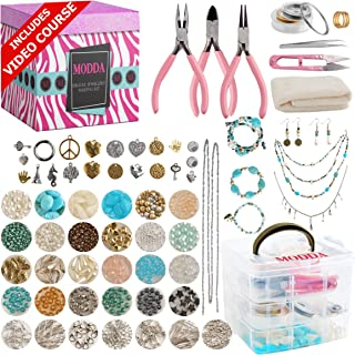 Modda Deluxe Jewelry Making Kit – Crafts for Adults, Teens, Girls, Beginners, Women – Includes Instructions, Beads, Charms...