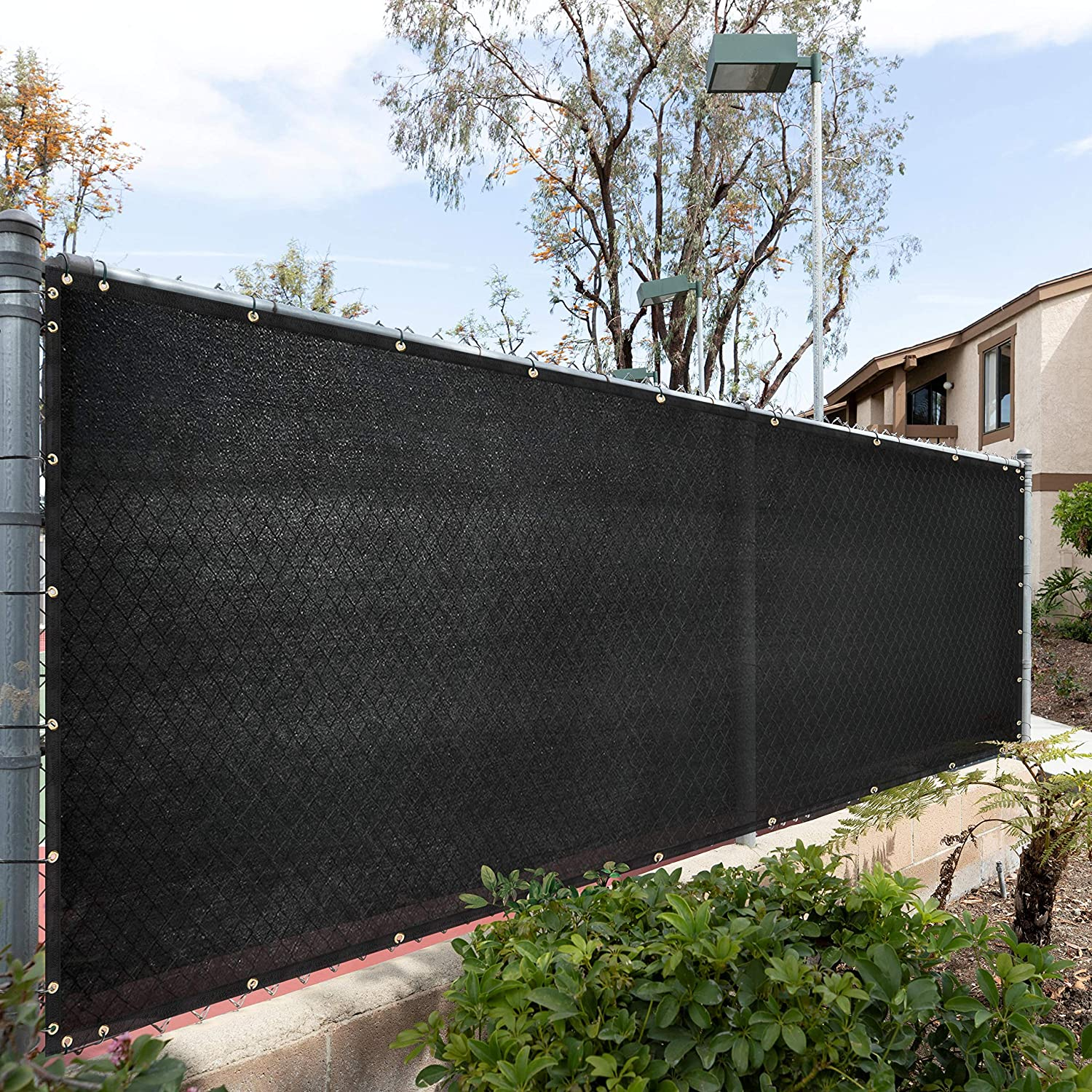 Royal Shade 5' x Don't miss the campaign All items in the store 50' Black Windscreen Cover Fence Privacy Screen