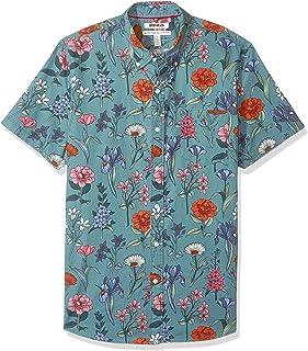 Amazon Brand - Goodthreads Men's Standard-Fit Short-Sleeve Printed Poplin Shirt