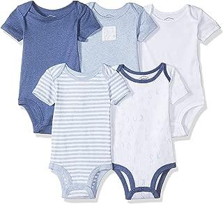 Lamaze Organic Baby Lamaze Baby Boy Organic Essentials 5 Pack Shortsleeve Bodysuits