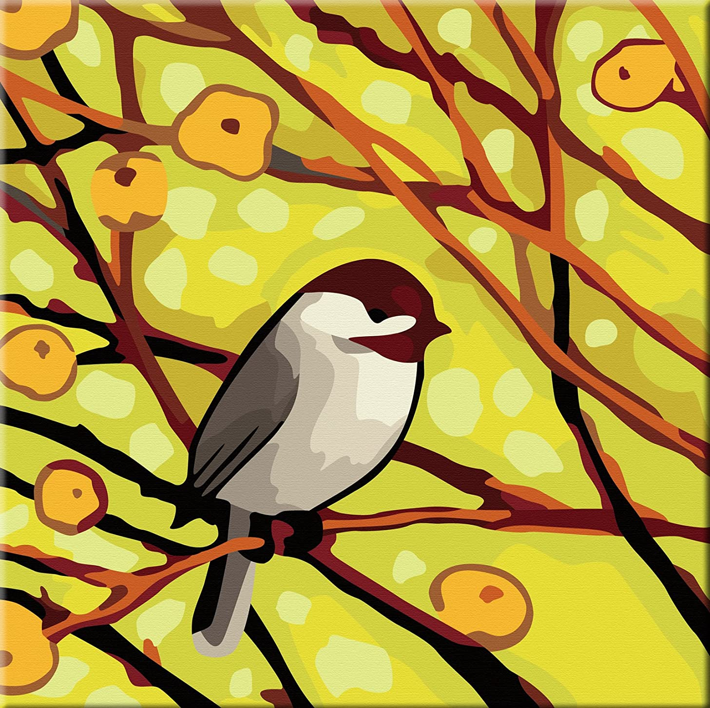 Karribi Paint by Numbers Kit for Adults and Children - Spring Birds Series (Bird I)
