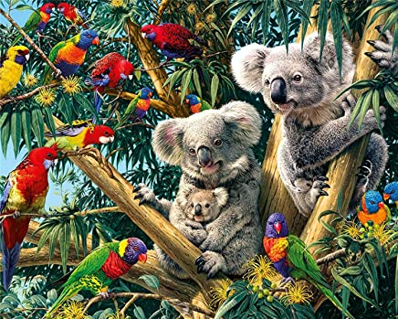 Diamond Painting Kit, 5D DIY Rhinestone Embroidery Cross Stitch Arts Craft Gift for Home Wall Decor - Koala 12x16inch