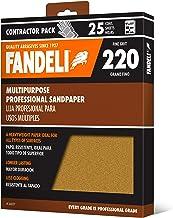 Fandeli 36027 hojas de papel de lija multiuso grano 220, 9 x