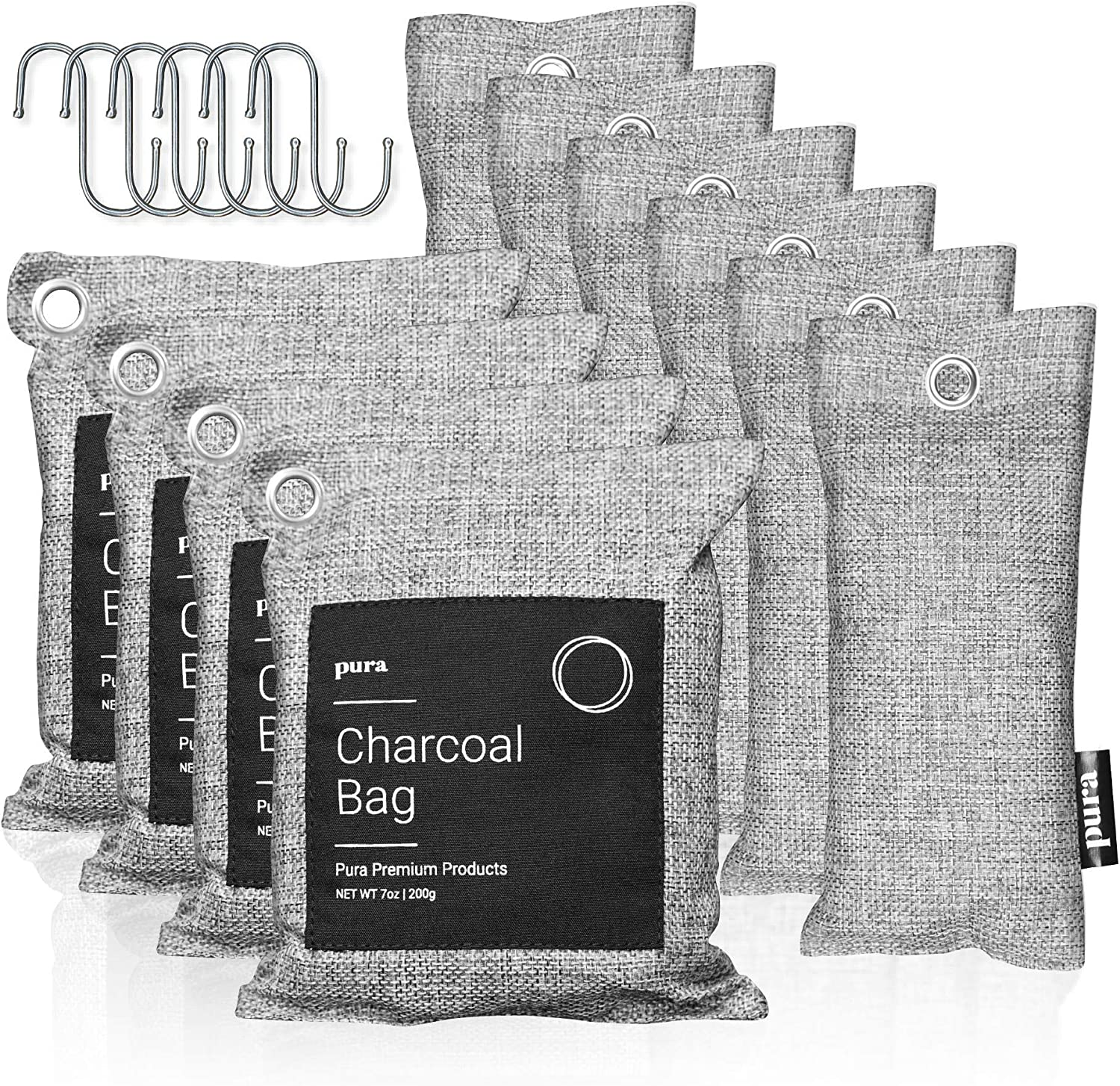Pura Premium Sales for sale Activated Charcoal Bags Absorber Piece Set Cheap mail order sales 16 Odor