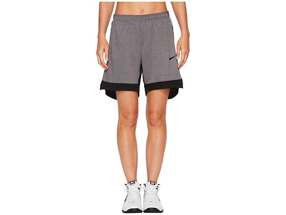 Nike Dry Elite Basketball Short (Black/Black/Black) Women