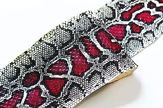 Genuine Snake Skin Snakeskin Burmese Python Print Million Dollar Red