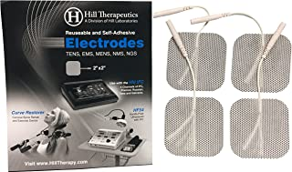 Hill Labs Premium TENS & EMS Reusable Electrodes (40 Individual Pads -10 Packs)