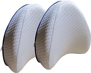Par de almohadas Pillow reposa piernas y espalda, de espuma viscoelástica, soporte ortopédico para las rodillas para aliviar el dolor de la ciática, desenfundable