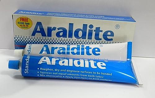 Araldite Standard Epoxy Adhesive (Resin 100g and Hardener 80g) 180gms (Blue)