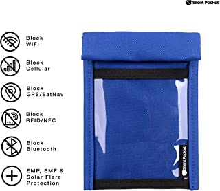 Silent Pocket Quick Access Smartphone Faraday Bag - Waterproof Signal Blocking Nylon - Device Shielding for iPhone, Samsung Galaxy, Most Phones for Travel, Privacy, Anti-Hacking - Multiple Colors