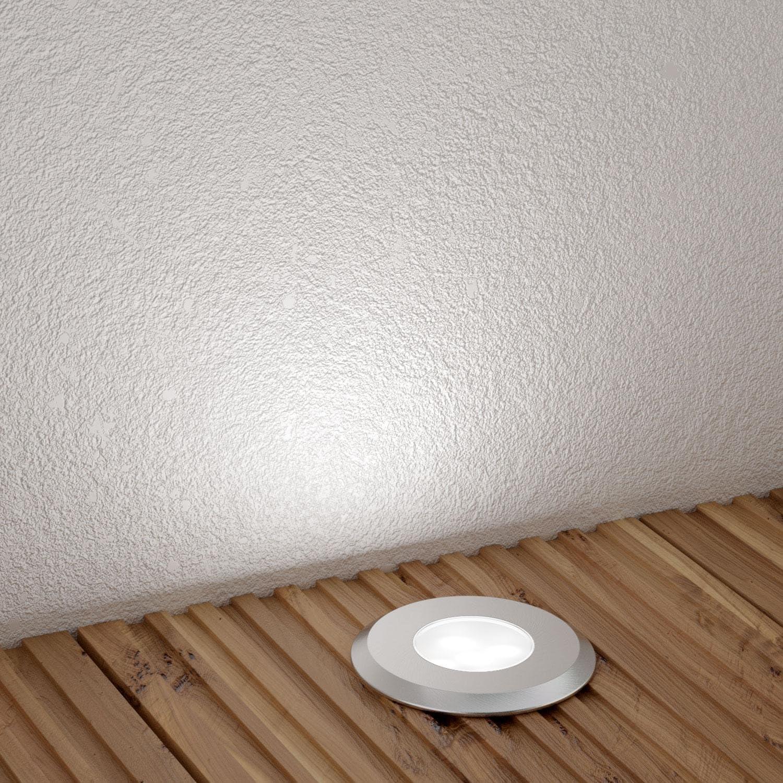 parlat LED Bodeneinbauleuchte AGENA, wetterfest, kalt-weiß, 7lm, IP65, 230V, 60mm Ø, 6 STK. 6 Leuchten