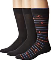 HUE - Striped Jetsetter Socks 3-Pack