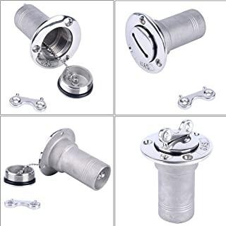 Amarine Made 1.5 INCH Boat Deck Gas Boat Deck Fill/Filler with Key Cap (38MM)