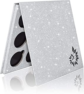 BaeBlu Glitter Mirror Empty Magnetic Reusable Eyeshadow Makeup Palette Case with Cover