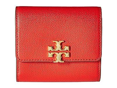 Tory Burch Kira Foldable Medium Wallet (Brilliant Red) Wallet