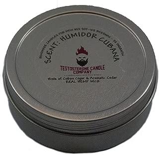 Testosterone Candle Company Humidor Cubana Humidor Cigar Scented Candle 8oz