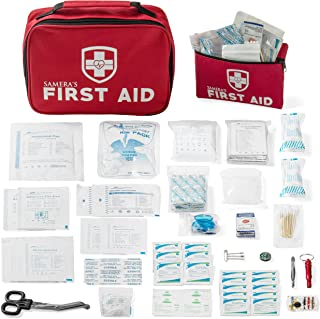 Samera's 2-in-1 First Aid Kit (155 Piece) Bonus Mini First Aid Kit - Large Emergency Supplies for Car, Camping, Hiking, Travel, Home, Outdoor, School & Workplace