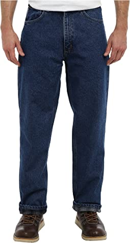 Relaxed Fit Straight Leg Flannel Lined