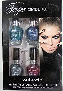 FERGIE CENTERSTAGE Wet n Wild All Nail The Dutchess! Nail Color Collection 4 Pack .42 Oz. Each