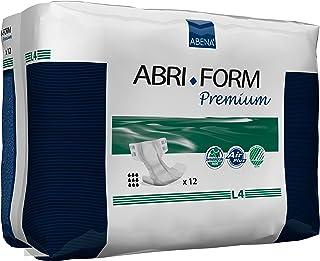 Abena Abri-Form Premium Incontinence Briefs, Large, L4, 48 Count (4 Packs of 12)