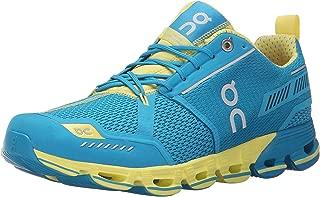 ON Men's Cloudflyer Running Shoes, Glacier/Spice