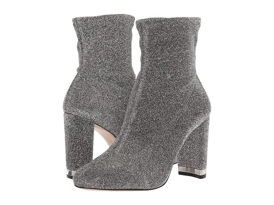 MICHAEL Michael Kors Mandy Bootie (Black/Silver Glitter Stretch) Women