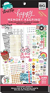 Me & My Big Ideas Happy Memory Keeping Sticker Value Pack, Botanicals