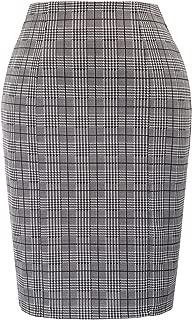 Womens Elastic Waist Stretch Bodycon Business Pencil Skirt