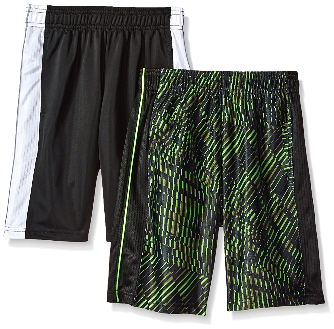 Hanes Boys' Big Sport 10 Inch Performance Dazzle Pocket Short (Pack of 2)