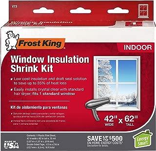 Frost King V73H Shrink Film Window KIT, 1-Pack, Clear, Transparent