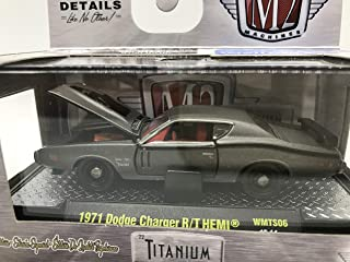 M2 Machines Limited Quantity Worldwide Chase Car with Special Wheels & Unique Design Titanium 1971 Dodge Charger R/T HEMI 1:64 Scale WMTS06 16-14 Titanium Nickel Details Like NO Other! 1 of 750