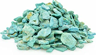 Bluejoy Genuine Pure Natural American Blue Turquoise Rough Stone for Inlay and Jewelry Design (4 Ounce)