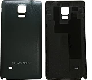 (md0410) Black back door rear battery housing cover replacement Compatible Galaxy Note 4 N910 N9100