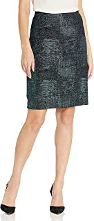 Women's Metallic Knit Skirt