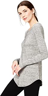 Daily Ritual Women's Supersoft Terry Long-Sleeve Shirt with Shirttail Hem