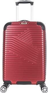 "Ben Sherman Bangor 20"" Lightweight Hardside PET 8-Wheel Spinner Expandable Carry-On Luggage/Suitcase, Warm Red"