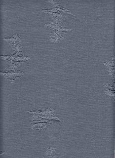 Fabric Selection Double Knitted Cotton Distress Jacquard Solid Denim