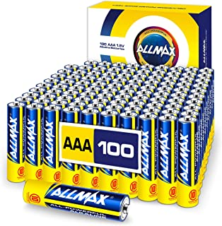 ALLMAX AAA Maximum Power Alkaline Batteries (100 Count Bulk Pack) � Triple A Ultra Long-Lasting Battery � Store up to 10 Years, Leak-Proof, Device Compatible � Powered by EnergyCircle Technology(1.5V)