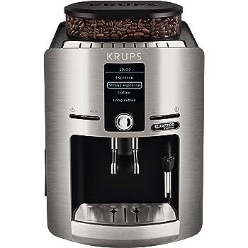 Krups EA 810B Independiente Totalmente automática Máquina espresso 1.7L Negro, Titanio - Cafetera (Independiente, Máquina espresso, 1,7 L, Molinillo integrado, 1450 W, Negro, Titanio): Amazon.es: Hogar