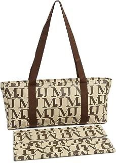 Mah Jongg Beige with Brown MJ Designer Logo Soft Case (Case Only)