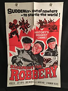 Blueprint For Robbery 1960 Original Vintage One Sheet Movie Poster, Action, Cops, Robbers