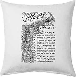 Universal Zone Pride and Prejudice by Jane Austen Pillow Cover, Book pillow cover.