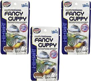 Hikari (3 Pack) USA Tropical Fancy Guppy for Pet Health, 0.77-Ounce Each