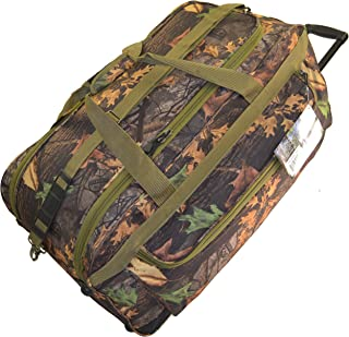 Explorer Mossy Oak Luggage Wheel Realtree Like Tactical Hunting Camo Heavy Duty Duffel Bag Luggage Travel Gear for Hunting Outdoor Police Security