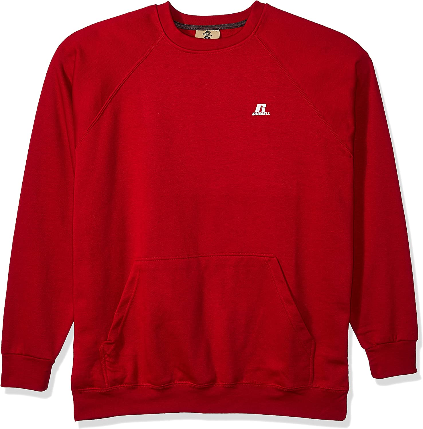 Russell Athletic Men's Big and Tall Fleece Pull Over with Pouch Pkt W/Lc R
