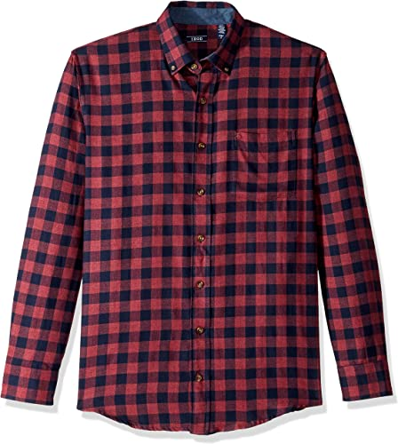 IZOD Hommes's Big and Tall Flannel manche longue Shirt, fig, 4X-grand